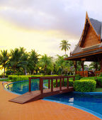 Tropical  pool in Thailand — Stock Photo