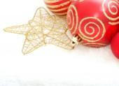 Christmas red balls — Stock Photo