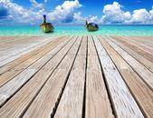 Mar praia e tropical — Fotografia Stock