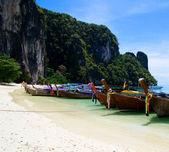 Longtail boats n  Andaman Sea — Photo