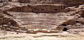 Rock formations in Petra Jordan — Stock Photo