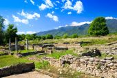 Ancient ruins in Dion, Greece. — Stock Photo