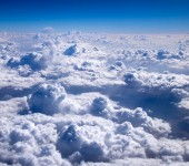 Aerial sky and clouds — Stock Photo