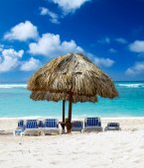 Beach and tropical sea — Foto de Stock