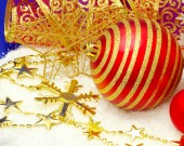 Shiny Christmas decorations — Stock Photo