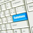 Solutions  key on keyboard — Stock Photo #63702435