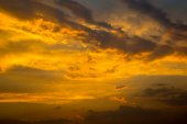 Sky with clouds and sun — Stock Photo
