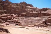 Rock formations in Petra, Jordan. — Stockfoto