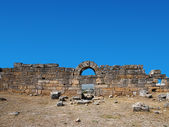Ruins of theater in Hierapolis — Stock Photo