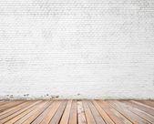 Parede de tijolo branco — Fotografia Stock