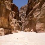Siq canyon in Petra, Jordan, — Stock Photo #67235519