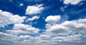 Sky background with clouds — Stock Photo