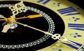 Old clock close-up — Stock Photo
