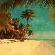 Grunge image of tropical beach — Stock Photo #70441399