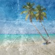 Grunge image of tropical beach — Stock Photo #71429359
