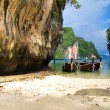 Boats and islands in Andaman sea — Stock Photo #74983329