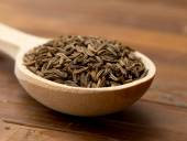 Cumin seeds  in  spoon — Stock Photo