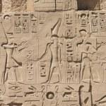Old egypt hieroglyphs carved — Stock Photo #77319030