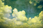 垃圾蓝色天空背景 — 图库照片