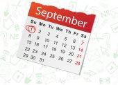 Calendar list on white — Stock Vector