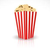 Red box of popcorn — Stock Vector