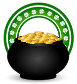 Green St. Patrick's Day Icons — Stock Vector