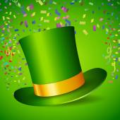 St. Patrick's Day hat — Stock Vector