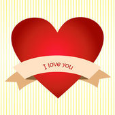 I love you on the heart — Stock Vector