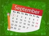 Calendar list with pencil — Stock Vector