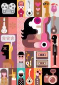 Music vector illustration — Stock Vector