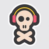 Skull and Crossbones vector icon — Stock Vector