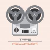 Tape Racorder — Stock Vector