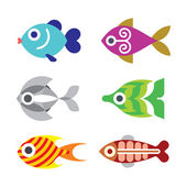 Fish vector clip art — Stock Vector