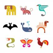 Animal Icon set — Stock Vector