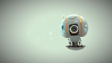 Droid, robot flying machine with camera — Stock Video