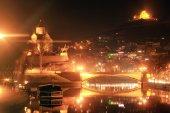 Tbilisi Night Cityscape — Stock Photo