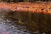 The Río Tinto (red river) is a river in southwestern Spain — Stock Photo
