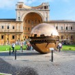 VATICAN - AUGUST 26: Modern installation Sphere within Sphere by Arnaldo Pomodoro in Belvedere Courtyard on August 26, 2014, Vatican. Versions of the sculpture can be seen in many settings worldwide. — Stock Photo #55258067