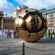 VATICAN - AUGUST 26: Modern installation Sphere within Sphere by Arnaldo Pomodoro in Belvedere Courtyard on August 26, 2014, Vatican. Versions of the sculpture can be seen in many settings worldwide. — Stock Photo #55258077
