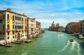 Très belle vue du Grand Canal et la Basilique Santa Maria della — Photo