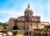 Ruins of the Roman Forum in Rome, Italy. Rome is the 3rd most vi — Stock Photo