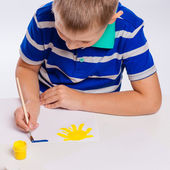 Hands of painting little boy  — Stock Photo
