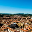 Florence, Italy. Cityscape with tiled roofs and Palazzo Vecchio in the distance — Stock Photo #57578201