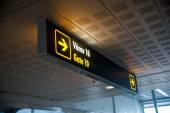 Aiport fight departure gate sign — Stock Photo