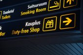 Duty Free board in Airport — Stock Photo