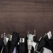 Různé kabely na stůl — Stock fotografie