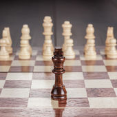 Chess leadership concept on the chessboard — Stock Photo
