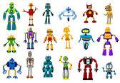 Cyborgs, robots and aliens set — Stock Vector