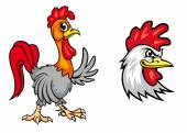 Cartoon colorful roosters — Stock Vector