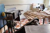 Träbearbetning hyvling maskin — Stockfoto